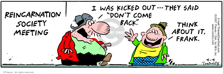 Comic Strip Bob Thaves Tom Thaves  Frank and Ernest 2007-04-04 birth