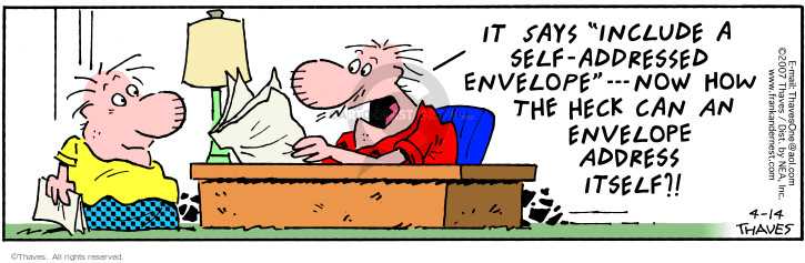 Cartoonist Bob Thaves Tom Thaves  Frank and Ernest 2007-04-14 include