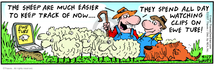 Comic Strip Bob Thaves Tom Thaves  Frank and Ernest 2007-04-17 sheep