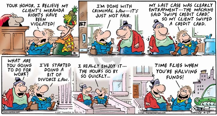 Comic Strip Bob Thaves Tom Thaves  Frank and Ernest 2007-04-29 law