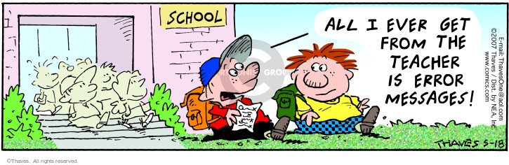 Comic Strip Bob Thaves Tom Thaves  Frank and Ernest 2007-05-19 teacher pupil