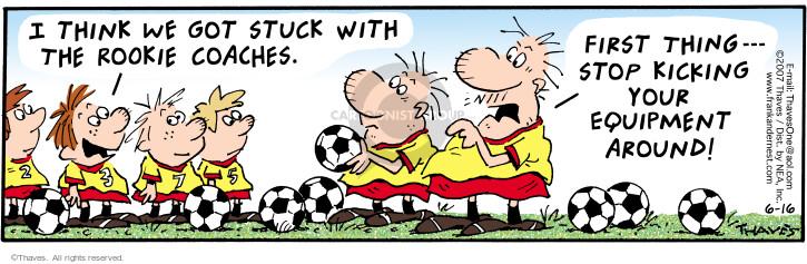 Comic Strip Bob Thaves Tom Thaves  Frank and Ernest 2007-06-16 soccer ball