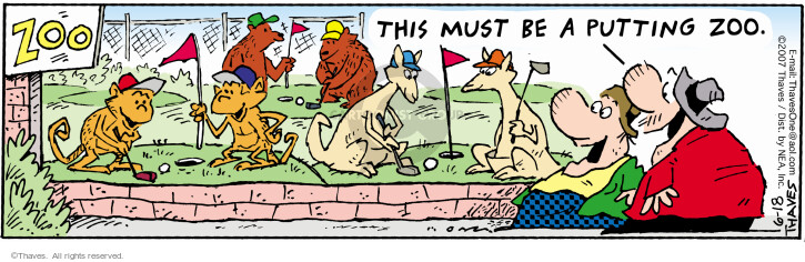 Comic Strip Bob Thaves Tom Thaves  Frank and Ernest 2007-06-18 kangaroo