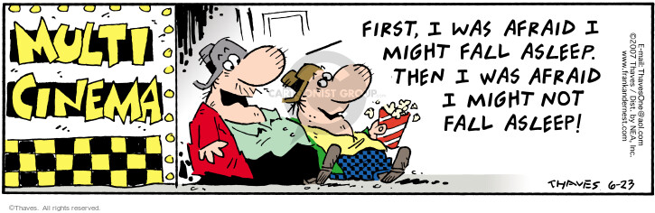 Comic Strip Bob Thaves Tom Thaves  Frank and Ernest 2007-06-23 movie critic
