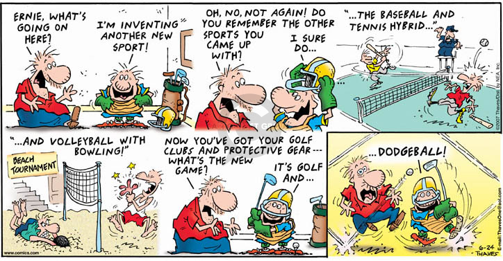 Comic Strip Bob Thaves Tom Thaves  Frank and Ernest 2007-06-24 baseball