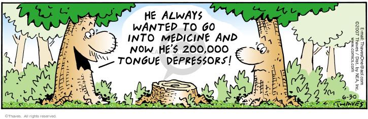 Cartoonist Bob Thaves Tom Thaves  Frank and Ernest 2007-06-30 medical supply