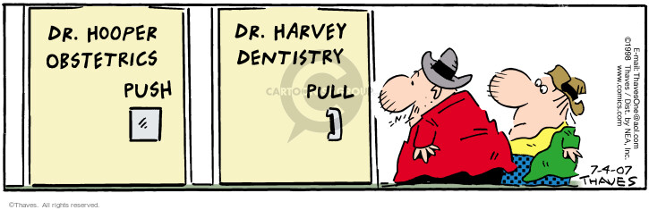 Comic Strip Bob Thaves Tom Thaves  Frank and Ernest 2007-07-04 dentistry