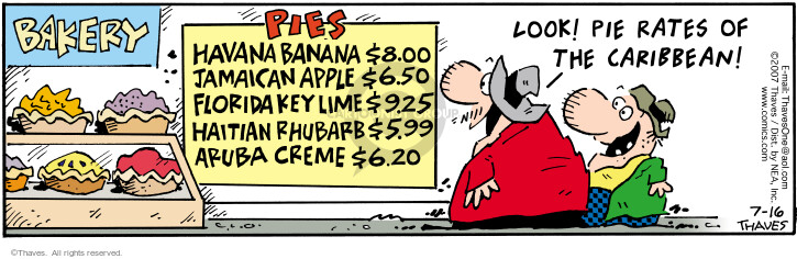 Comic Strip Bob Thaves Tom Thaves  Frank and Ernest 2007-07-16 dessert