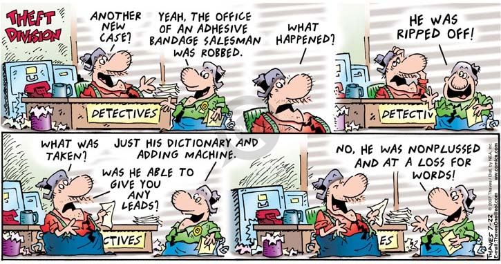 Comic Strip Bob Thaves Tom Thaves  Frank and Ernest 2007-07-22 robbery