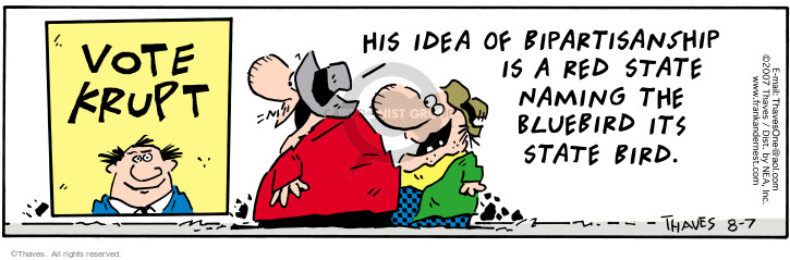 Comic Strip Bob Thaves Tom Thaves  Frank and Ernest 2007-08-07 candidate