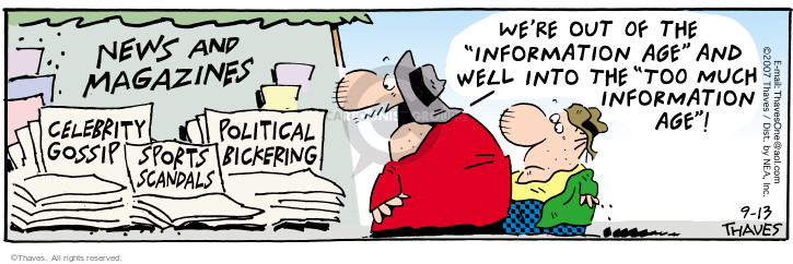 Comic Strip Bob Thaves Tom Thaves  Frank and Ernest 2007-09-13 gossip
