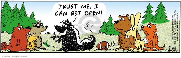 Comic Strip Bob Thaves Tom Thaves  Frank and Ernest 2007-09-20 football team