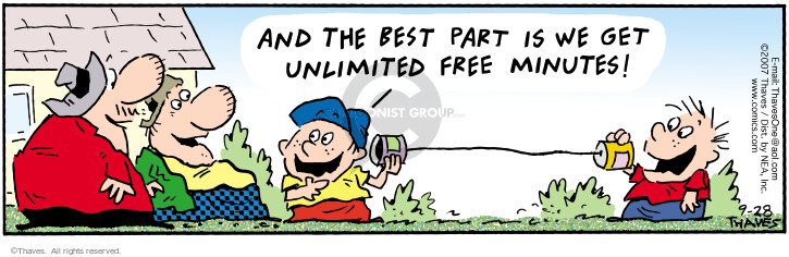Cartoonist Bob Thaves Tom Thaves  Frank and Ernest 2007-09-28 telecommunication