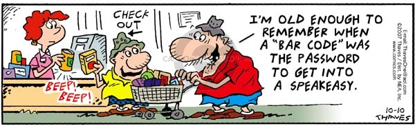 Comic Strip Bob Thaves Tom Thaves  Frank and Ernest 2007-10-10 check