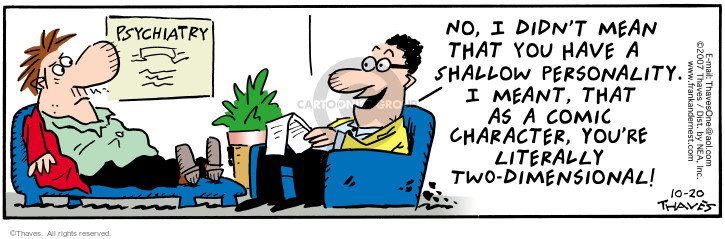 Comic Strip Bob Thaves Tom Thaves  Frank and Ernest 2007-10-20 depth