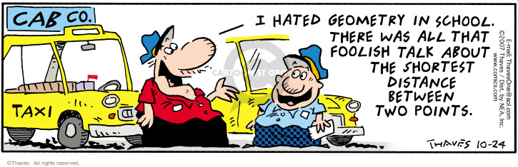 Comic Strip Bob Thaves Tom Thaves  Frank and Ernest 2007-10-24 geometry