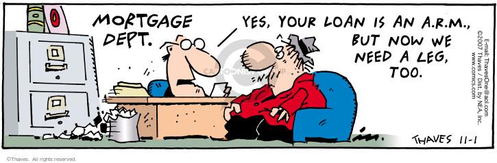 Cartoonist Bob Thaves Tom Thaves  Frank and Ernest 2007-11-01 adjustment