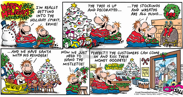 Comic Strip Bob Thaves Tom Thaves  Frank and Ernest 2007-11-25 sale