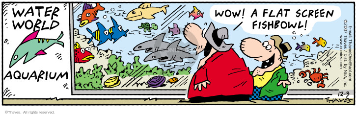 Comic Strip Bob Thaves Tom Thaves  Frank and Ernest 2007-12-03 underwater