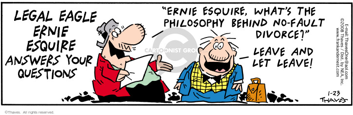 Comic Strip Bob Thaves Tom Thaves  Frank and Ernest 2008-01-23 law