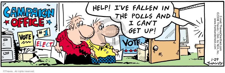 Comic Strip Bob Thaves Tom Thaves  Frank and Ernest 2008-01-29 poll