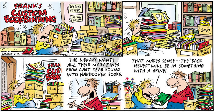 Comic Strip Bob Thaves Tom Thaves  Frank and Ernest 2008-02-10 library