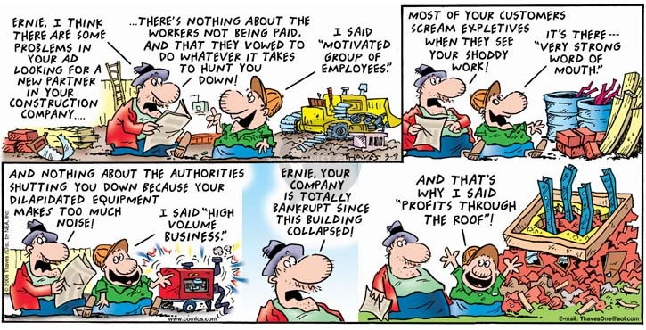 Comic Strip Bob Thaves Tom Thaves  Frank and Ernest 2008-03-09 authority