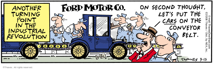 Cartoonist Bob Thaves Tom Thaves  Frank and Ernest 2008-03-15 motor