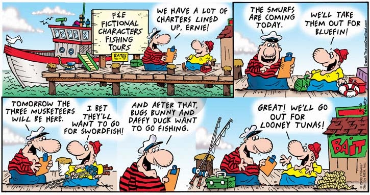 Comic Strip Bob Thaves Tom Thaves  Frank and Ernest 2008-03-16 tune