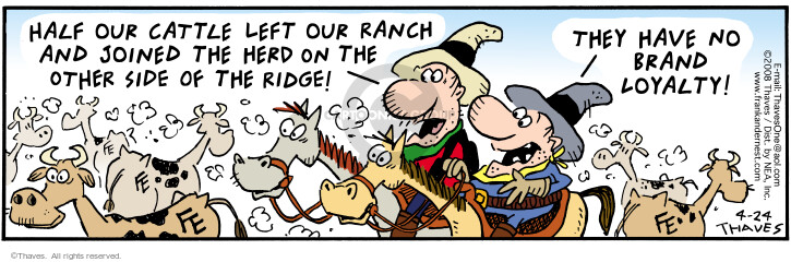 Comic Strip Bob Thaves Tom Thaves  Frank and Ernest 2008-04-24 ranch
