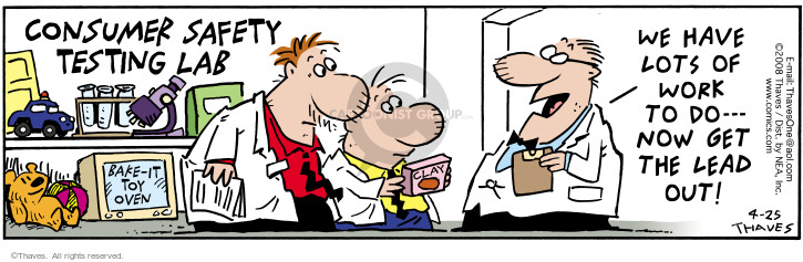 Comic Strip Bob Thaves Tom Thaves  Frank and Ernest 2008-04-25 lead to