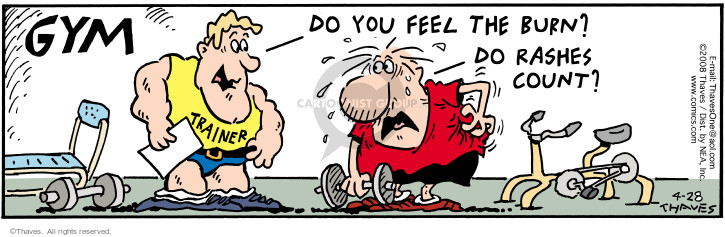 Comic Strip Bob Thaves Tom Thaves  Frank and Ernest 2008-04-28 stress