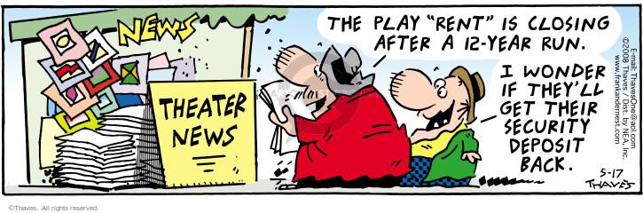 Comic Strip Bob Thaves Tom Thaves  Frank and Ernest 2008-05-17 deposit