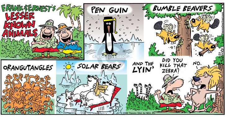 Comic Strip Bob Thaves Tom Thaves  Frank and Ernest 2008-05-25 global warming
