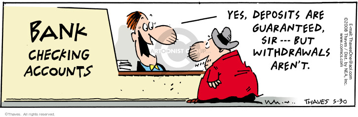 Comic Strip Bob Thaves Tom Thaves  Frank and Ernest 2008-05-30 depositor