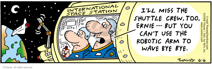 Comic Strip Bob Thaves Tom Thaves  Frank and Ernest 2008-06-06 station