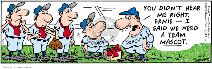 Comic Strip Bob Thaves Tom Thaves  Frank and Ernest 2008-06-07 baseball
