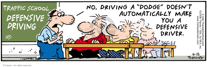 Comic Strip Bob Thaves Tom Thaves  Frank and Ernest 2008-06-18 automobile safety