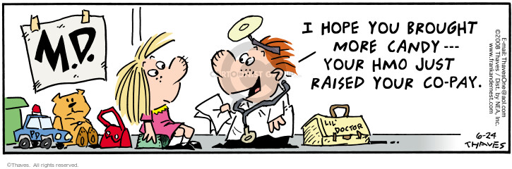Cartoonist Bob Thaves Tom Thaves  Frank and Ernest 2008-06-24 money