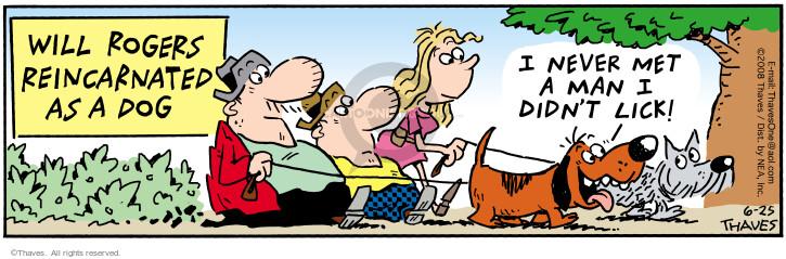 Cartoonist Bob Thaves Tom Thaves  Frank and Ernest 2008-06-25 reincarnation