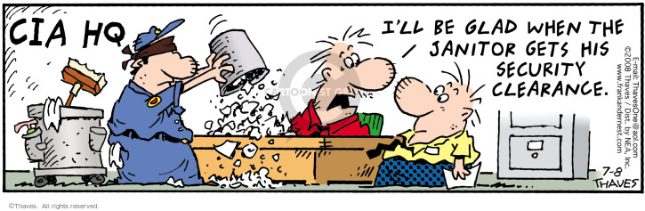 Comic Strip Bob Thaves Tom Thaves  Frank and Ernest 2008-07-08 garbage