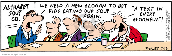 Comic Strip Bob Thaves Tom Thaves  Frank and Ernest 2008-07-23 food consumption