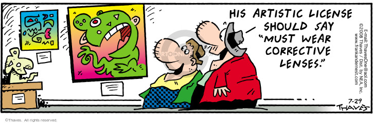 Comic Strip Bob Thaves Tom Thaves  Frank and Ernest 2008-07-29 license