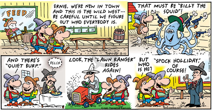 Comic Strip Bob Thaves Tom Thaves  Frank and Ernest 2008-08-10 kid