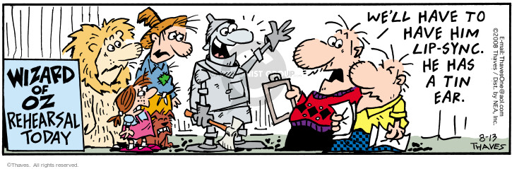Comic Strip Bob Thaves Tom Thaves  Frank and Ernest 2008-08-13 wizard
