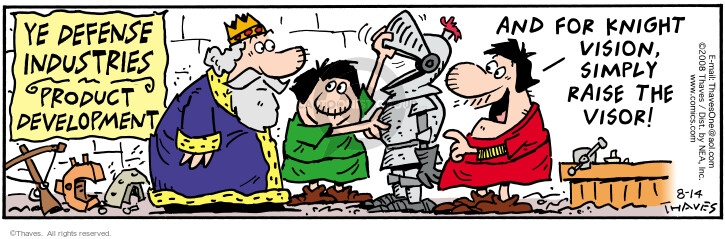 Comic Strip Bob Thaves Tom Thaves  Frank and Ernest 2008-08-14 king