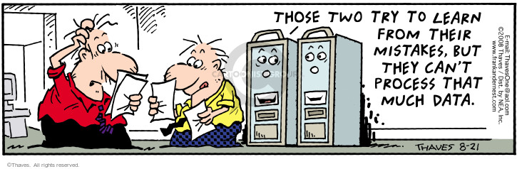 Comic Strip Bob Thaves Tom Thaves  Frank and Ernest 2008-08-21 computer