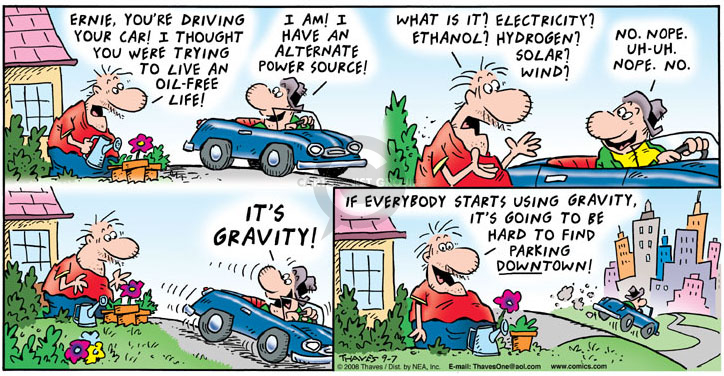 Comic Strip Bob Thaves Tom Thaves  Frank and Ernest 2008-09-07 parking