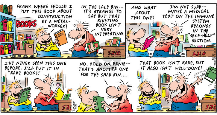Comic Strip Bob Thaves Tom Thaves  Frank and Ernest 2008-09-21 metal