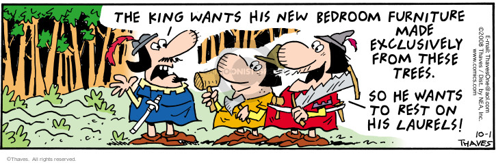 Comic Strip Bob Thaves Tom Thaves  Frank and Ernest 2008-10-01 bed
